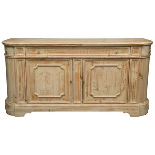 French Country Cream-Glazed Heart Pine Buffet For Sale