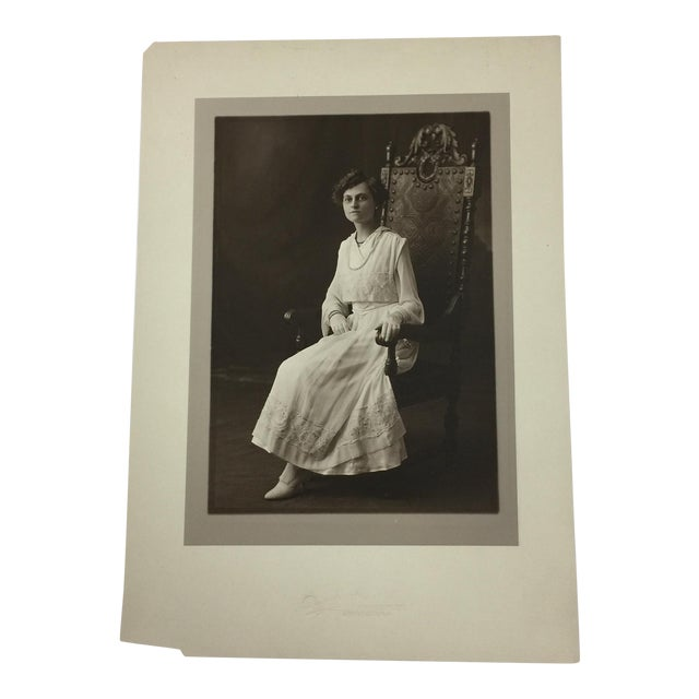 19th Century Antique Portait of a Young Woman For Sale