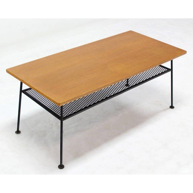 1960s Mid-Century Modern Coffee Table by Mattieu Mategot For Sale - Image 5 of 8
