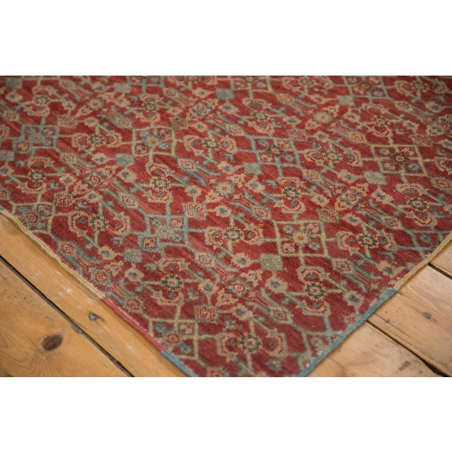 """Islamic Vintage Fragment Mahal Square Rug - 2'7"""" X 3'2"""" For Sale - Image 3 of 9"""