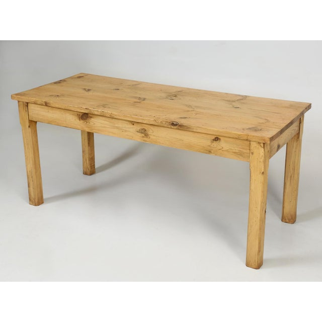 French Pine Farm Table in a Beeswax Finish For Sale - Image 11 of 11