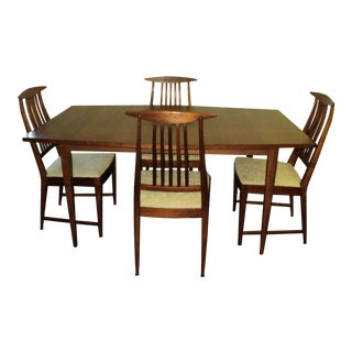 Set of 4 Danish Modern Mid Century Dining Chairs by Kipp Stewart for Calvin Furniture