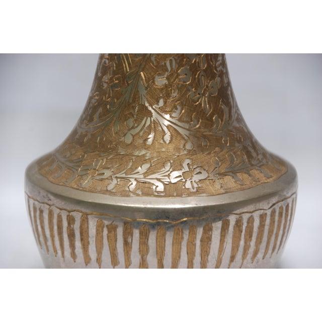 Vintage Silver Metal Floral Vase - Image 3 of 5
