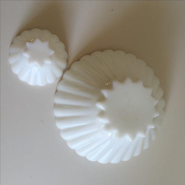 Classic Milk Glass Anchor Hocking Bowl Set - Pair - Image 7 of 10