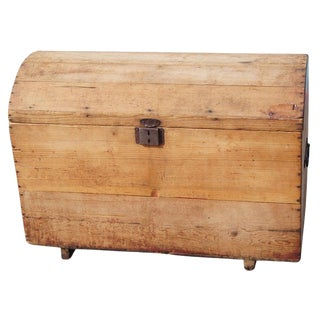 Rustic Wooden Moroccan Chest For Sale