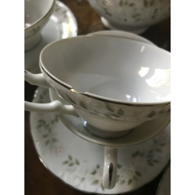 White Classy ,Vintage Sheffield Fine China Classic 501 ,Reduced Set for 11 For Sale - Image 8 of 11