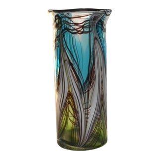 Vintage Italian Murano Blown Glass Vase For Sale