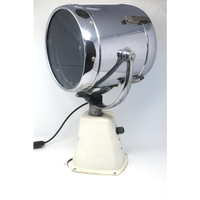 Vintage Large Ray-Line marine spotlight, Genuine Spotlight used on Ships - which has been retrofitted and newly wired to...