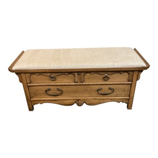 Mid 20th Century Lane Furniture Cedar Storage Bench For Sale