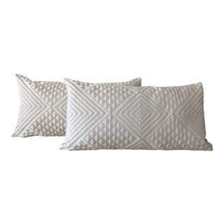 """Contemporary Donghia """"Nomad"""" Jacquard Pillows - a Pair For Sale"""