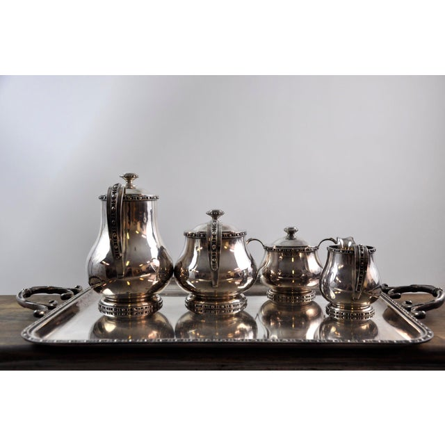 French Silverplated Coffee Tea Serving Set - 5 Pieces For Sale - Image 4 of 12