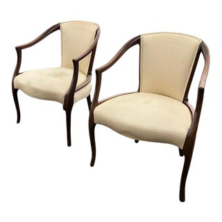 Mid-Century Modern Dining Chairs Pair For Sale