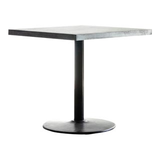 Original Bistro Table With Zinc Top and Reclaimed Steel Base - Custom Made to Order