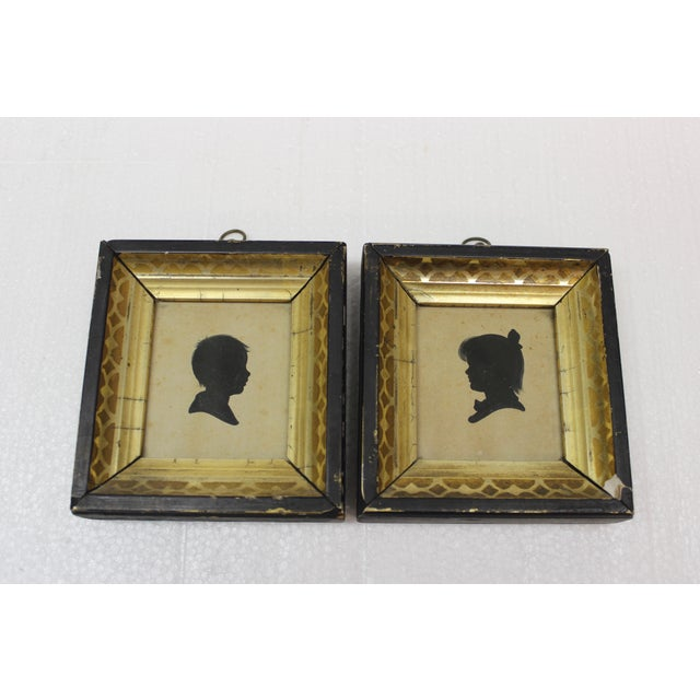 19th Century Antique Silhouette Miniatures - a Pair For Sale - Image 5 of 9