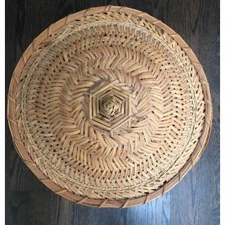 Vintage Chinese Split Bamboo Rattan Snake Charmer Basket Preview