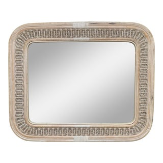 Rattan and Wicker Wall Mirror For Sale