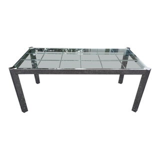 Design Institute of America Chrome & Glass Dining Table