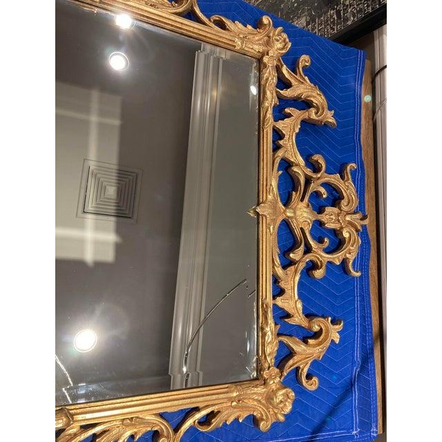 1940s Large Vintage 1940s Gold Framed Mirror For Sale - Image 5 of 8