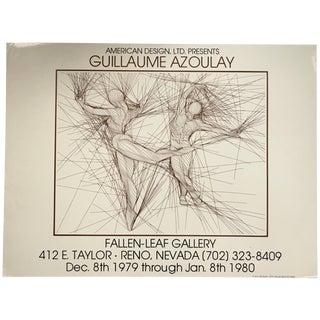 """Vintage 1979 """"Pas de Deux"""" Figure Study Art Gallery Exhibit Poster For Sale"""