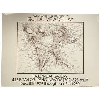 Vintage Guillaume Azoulay Gallery Exhibit Poster For Sale