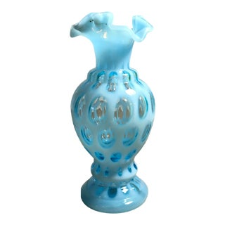 Fenton Coin Dot Vase For Sale