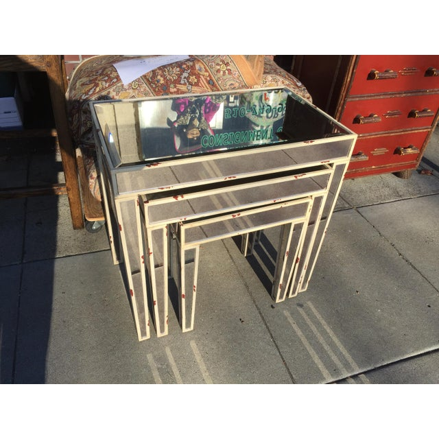 Mirrored Nesting Tables - Set of 3 - Image 5 of 7