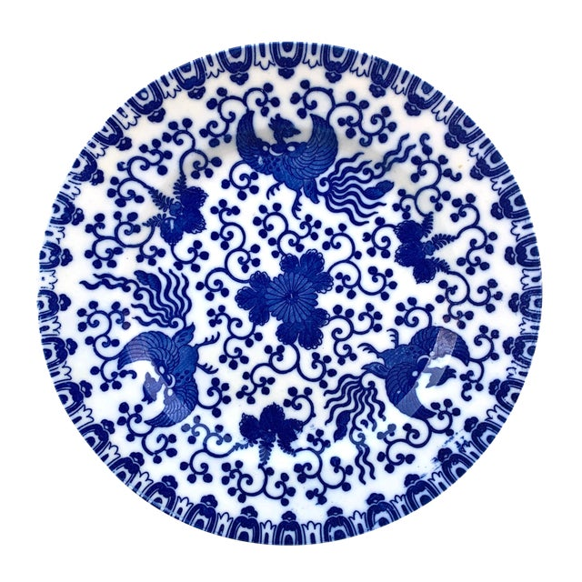 Early 20th Century Japanese Blue and White Plate For Sale