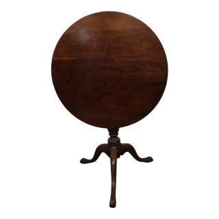 American Queen Anne Mahogany Tilt-Top Table
