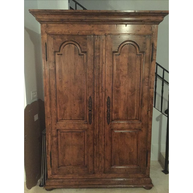 """Guy Chaddock Large Traditional Style Armoire TV Cabinet. 55""""W x 28""""D x 85.5""""H Approximately 5 years old. High quality,..."""