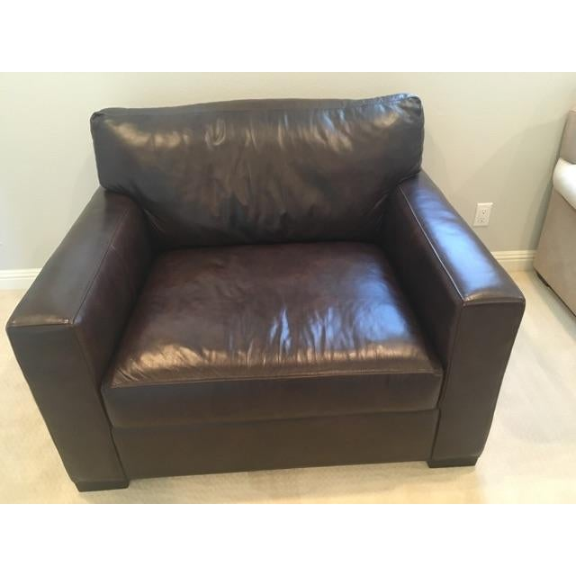 Crate & Barrel Axis II Leather Chair - Image 2 of 8