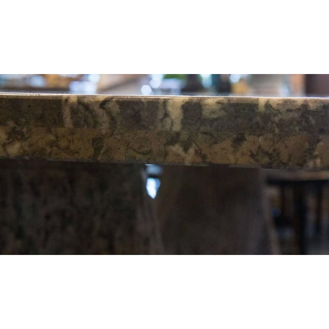 Italian Scagliola Marble-Table on Concrete Plinths For Sale - Image 4 of 7