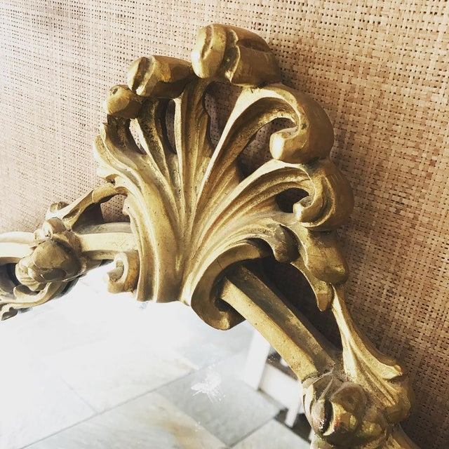 Asian Chinoiserie Gold Carved Wall Mirror For Sale - Image 3 of 13
