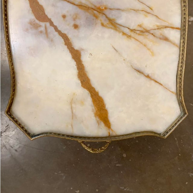 19th Century French Louis XVI Marble Top End Table For Sale - Image 10 of 13