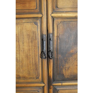 19th Century Chinese Wooden Wardrobe With Paneled Doors, Drawers and Tall Legs Preview