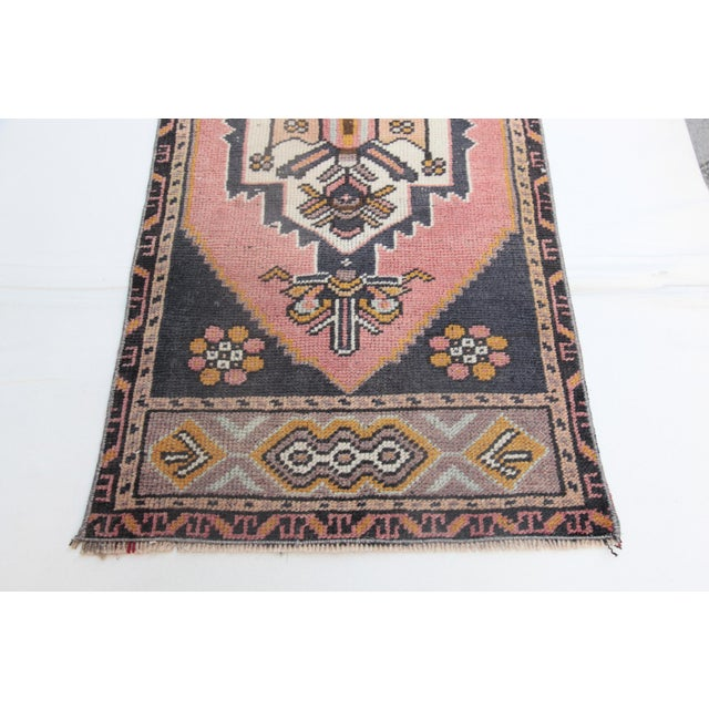 """1960s Turkish Pure Wool Carpet - 43"""" X 21"""" For Sale In Baltimore - Image 6 of 11"""