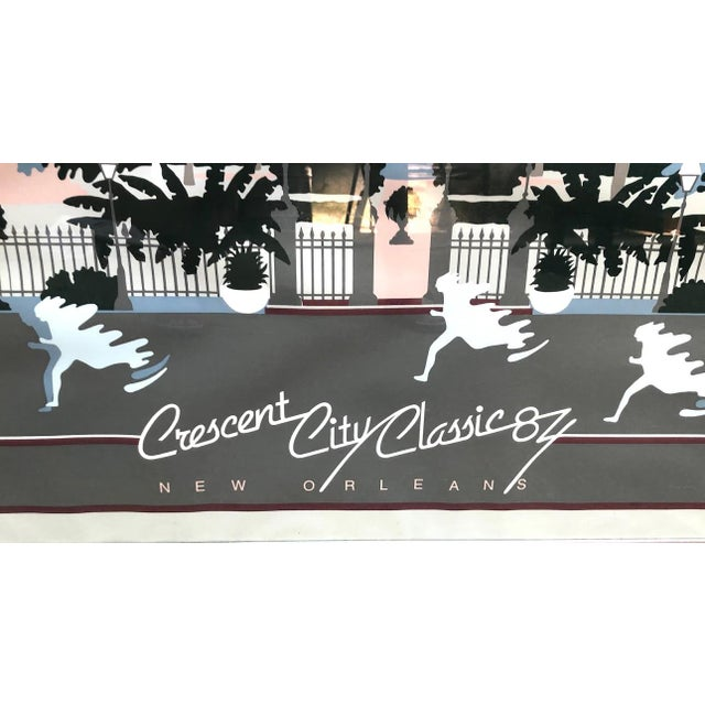 1984 Crescent City Classic Signed & Numbered Framed Poster For Sale - Image 4 of 8