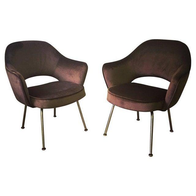 Knoll Eero Saarinen Executive Armchairs - a Pair For Sale - Image 4 of 4