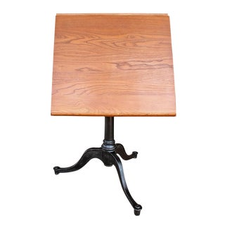 Vintage Pine Drafting Table For Sale