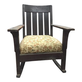1900's Mission Style Oak Rocking Chair