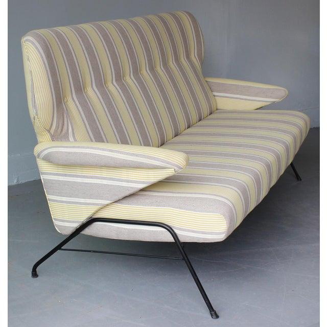 Italian 1950s Italian Wing Back Sofa For Sale - Image 3 of 6