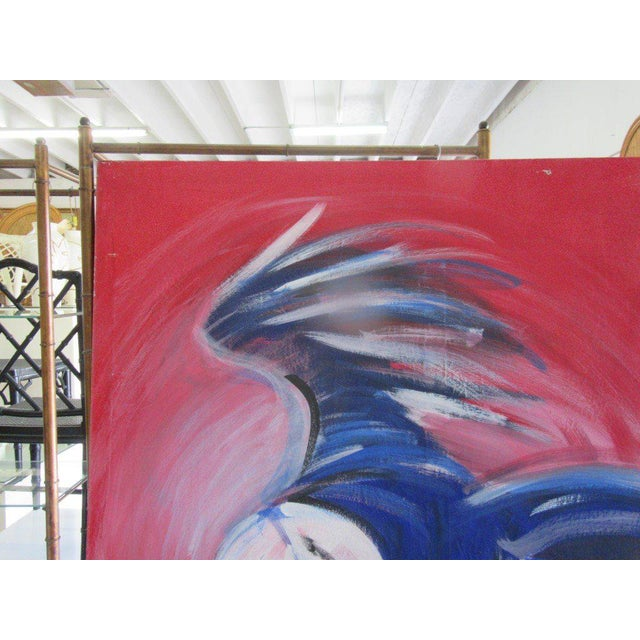 Flying Blue Parrot Original Painting - Image 3 of 6