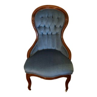 Antique Victorian Tufted Armchair For Sale