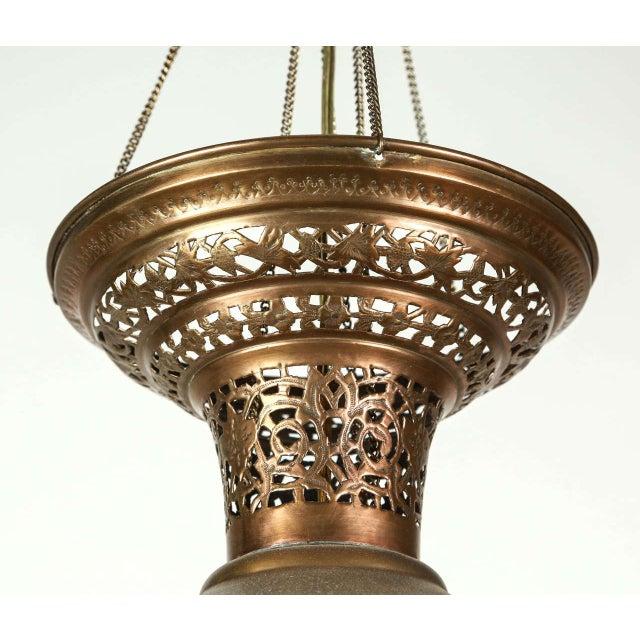 Excellent Moroccan Moorish Brass Hanging Light Fixture | DECASO