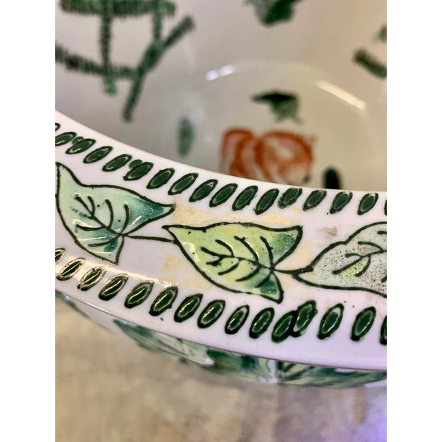 Ceramic Leaf Motif Jardiniere For Sale - Image 7 of 13