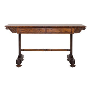 Antique English William IV Rosewood Library Table circa 1835
