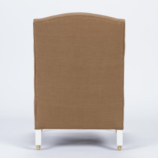 Casa Cosima Casa Cosima Sintra Chair in Hazel Linen For Sale - Image 4 of 9