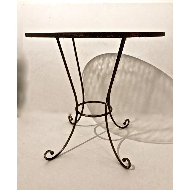 20th Century French Iron and Glass Bistro Table For Sale - Image 4 of 6
