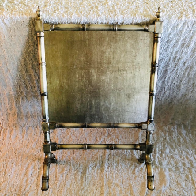 Mario Buatta English Traditional Style Painted Wood Fireplace Screen For Sale - Image 4 of 7