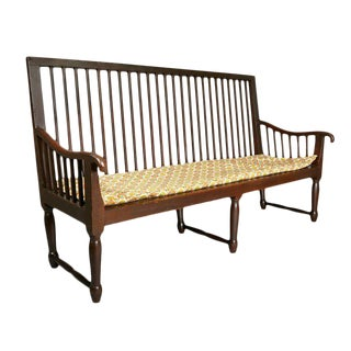 English Country Mahogany Bench
