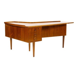 1960s Mid Century Modern Arne Vodder Teak Desk For Sale